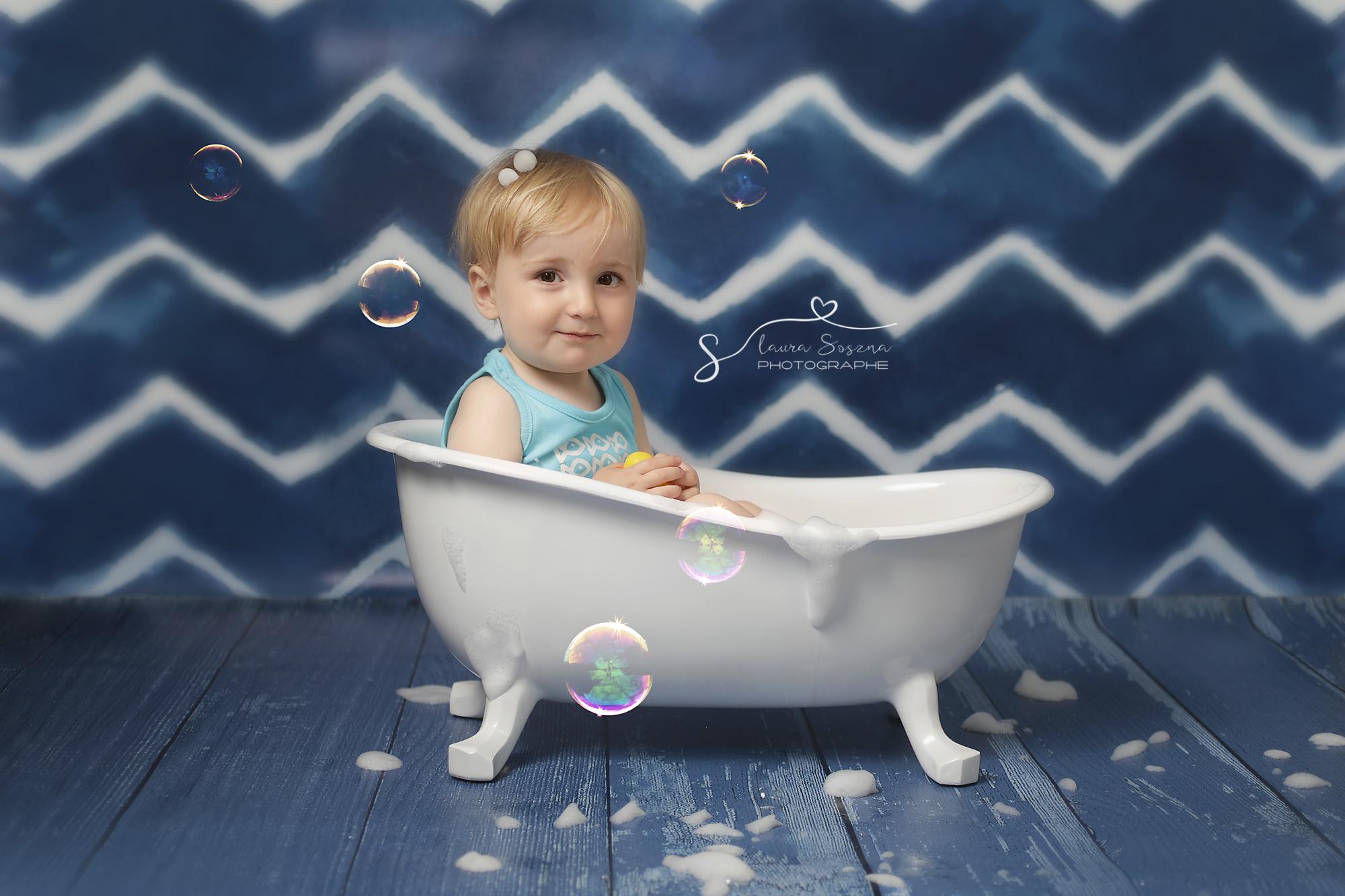 séance photo enfant Belgique baignoire