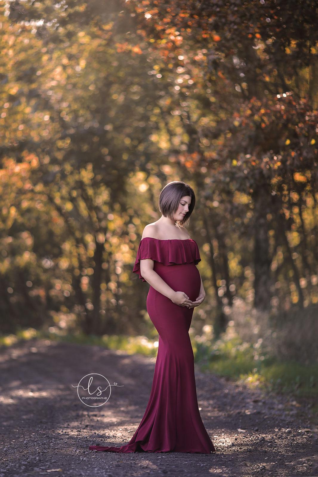 photo maternité extérieur robe princesse belgique