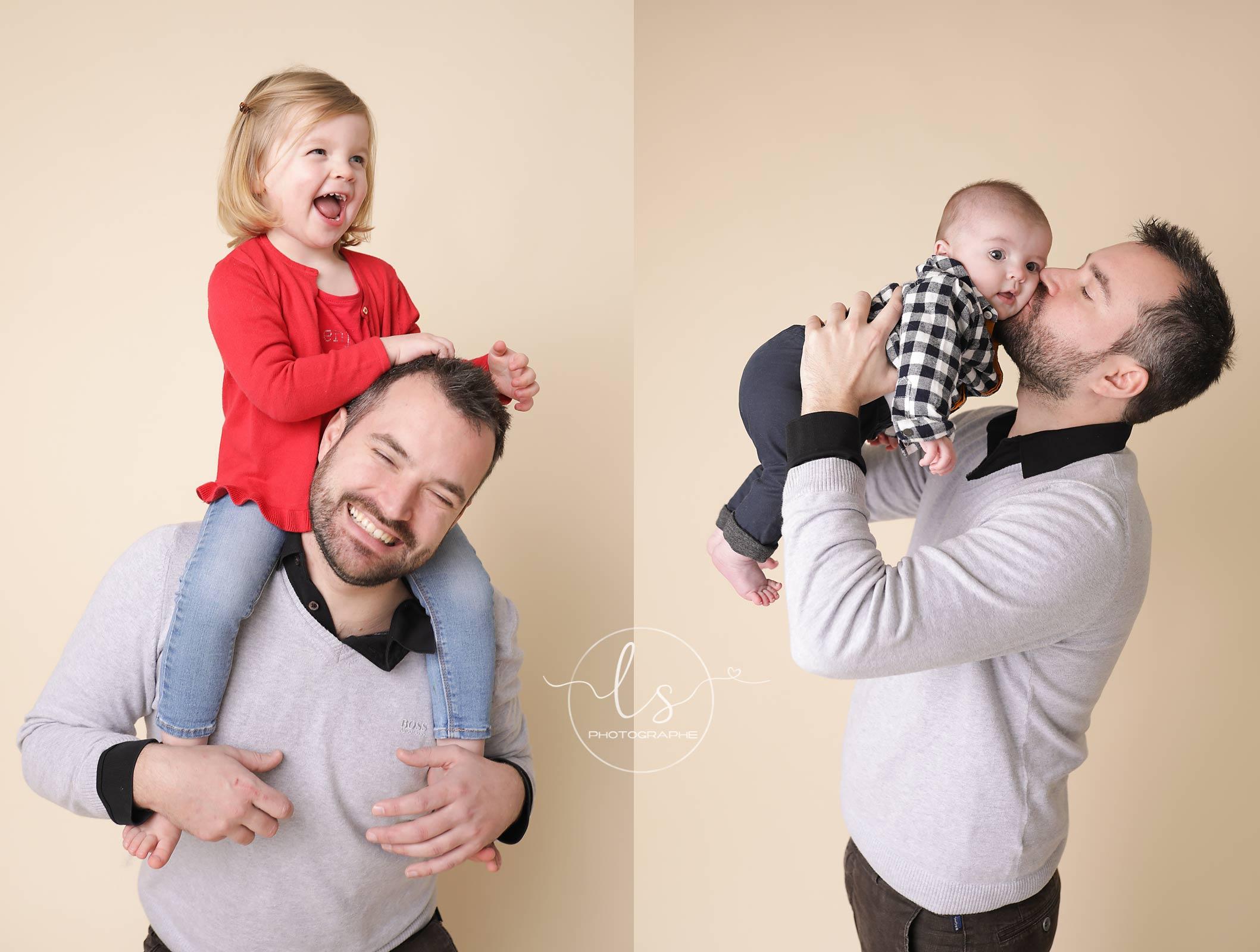 photo studio famille fête des pères cadeau