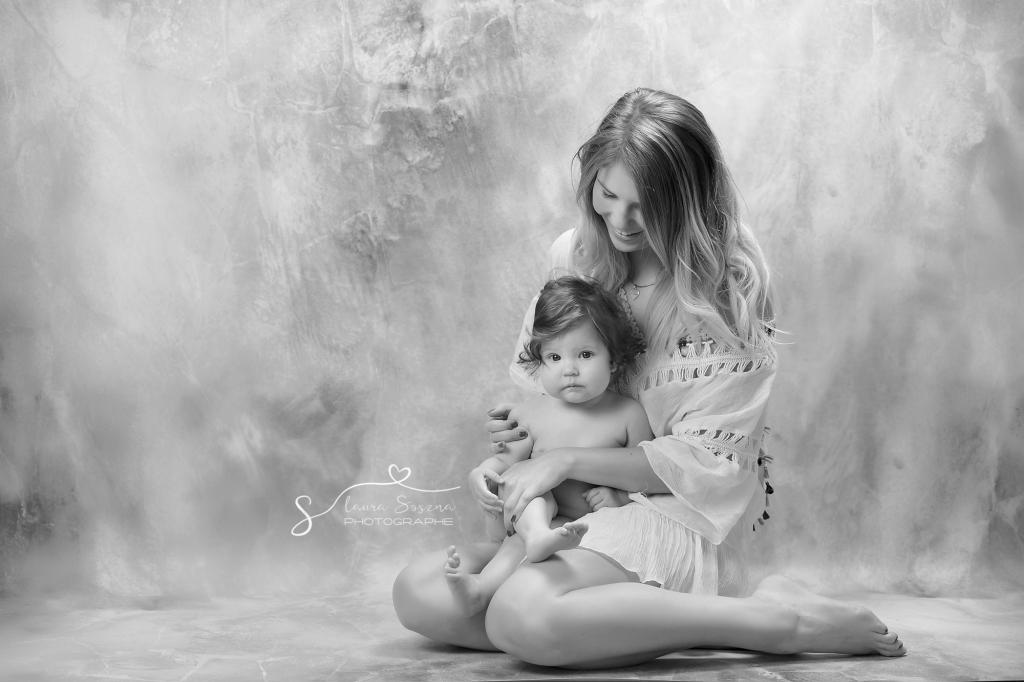 séance photo maman bébé
