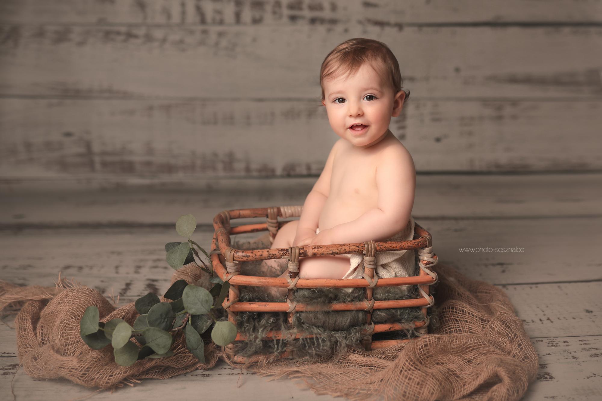 Séance bébé anniversaire photographe Liège