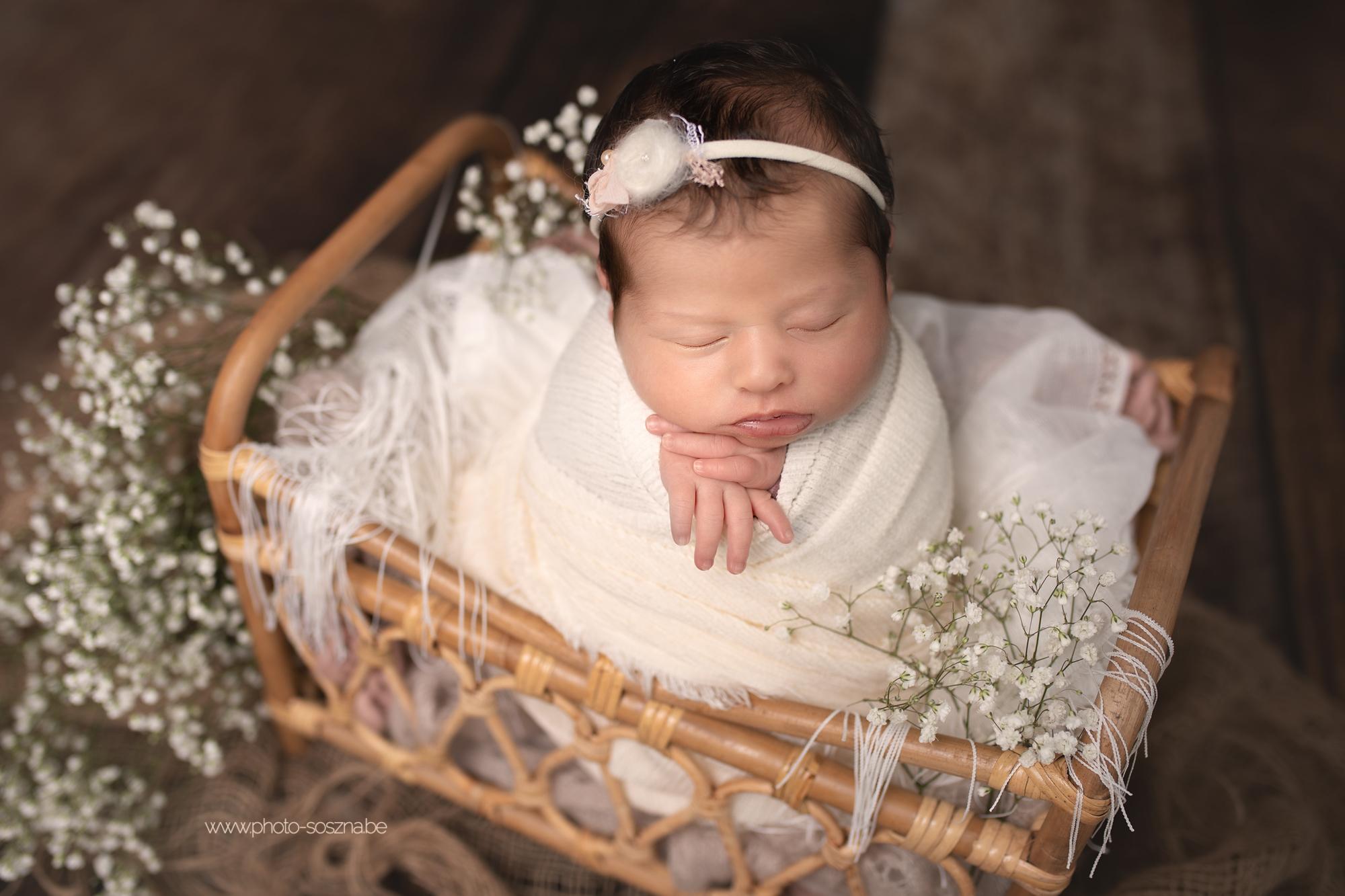 photographe nouveau-né bébé studio Belgique