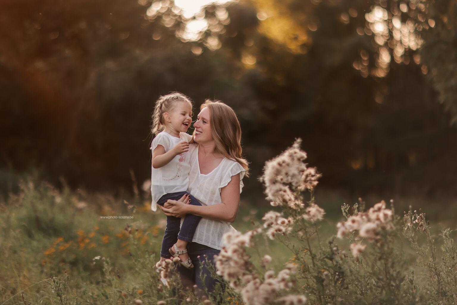 Séance photo en automne famille
